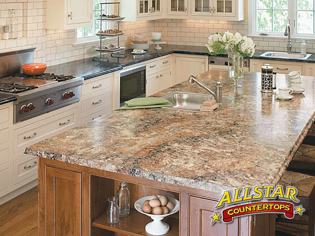 amazing Kitchen Island With Different Countertop #3: White Kitchen Diffe Color Island The Ultimate Design. Kitchen Countertop S