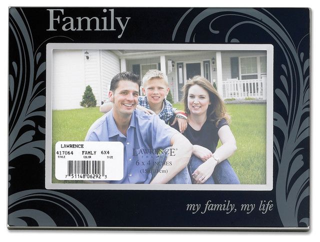glass and metal 4x6 family picture frame contemporary picture frames