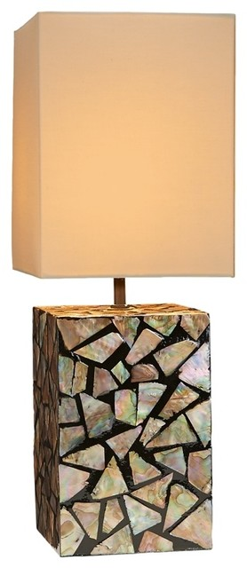 mother of pearl table lamp beach style table lamps. Black Bedroom Furniture Sets. Home Design Ideas