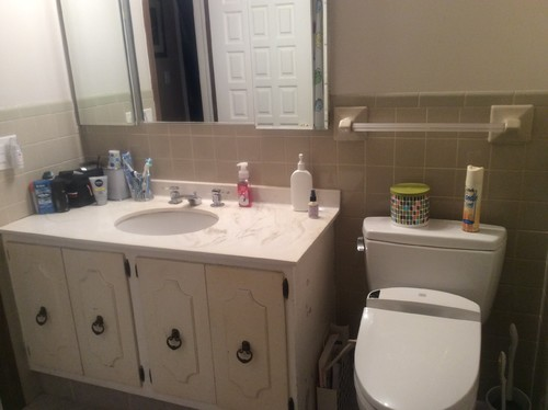 Bathroom Vanity Against Wall. I Appreciate Any Advicethoughts You Can Offer