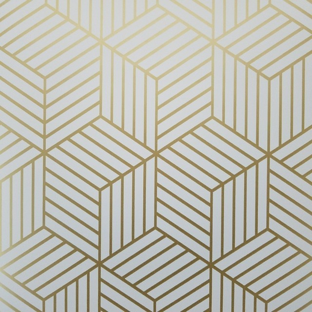geometric gold hexagon peel and stick mid century modern wallpaper contemporary wallpaper. Black Bedroom Furniture Sets. Home Design Ideas