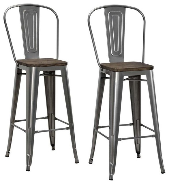 Shop Houzz Dhp Luxor Metal Stools Set Of 2 Bar Stools