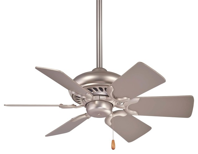 Minka-Aire Supra Ceiling Fan, Brushed Steel.
