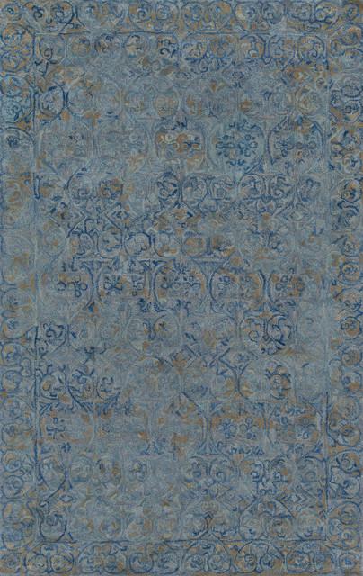 Delhi Dl-66 Blue 3&x27;6x5&x27;6 Rug.