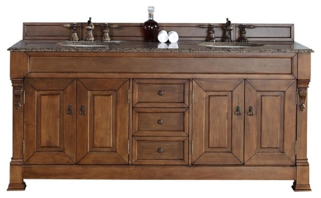 Brookfield 72 Quot Double Cabinet Country Oak Traditional