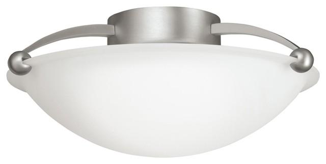 "Kichler 628 Chrome Bath Vanity 48 Wide 8 Bulb Bathroom: Kichler Swiss Passport 15"" 2 Light Semi-Flush Indoor"
