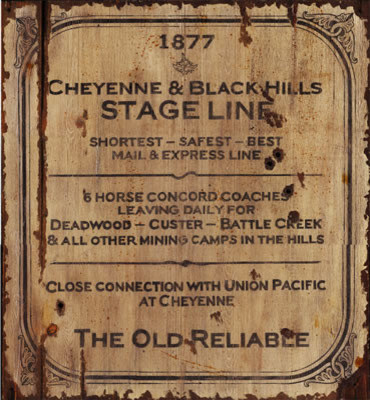 Red Horse Signs Vintage Stage Coach Signs Wood Rustic
