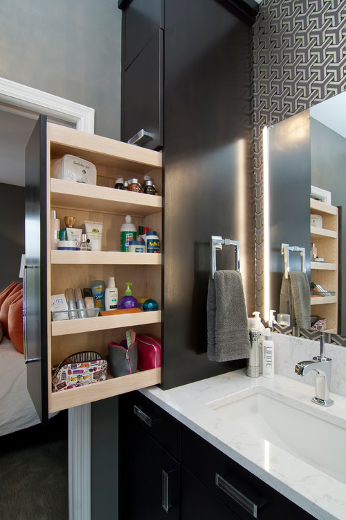 Custom Medicine Cabinet Doors custom-built bathroom vanities from the top down | dale's remodeling