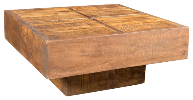 VidaXL Brown Antique Style Square Mango Wood Coffee Table rustic coffee  tables. VidaXL Brown Antique Style Square Mango Wood Coffee Table   Rustic