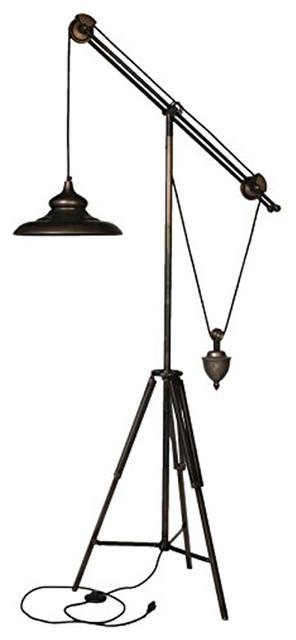 Arris Balanced-Arm Tripod Floor Lamp