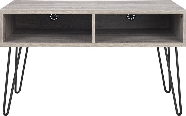 """Maxwell Retro Tv Stand For Tvs Up To 42"""", Weathered Oak."""
