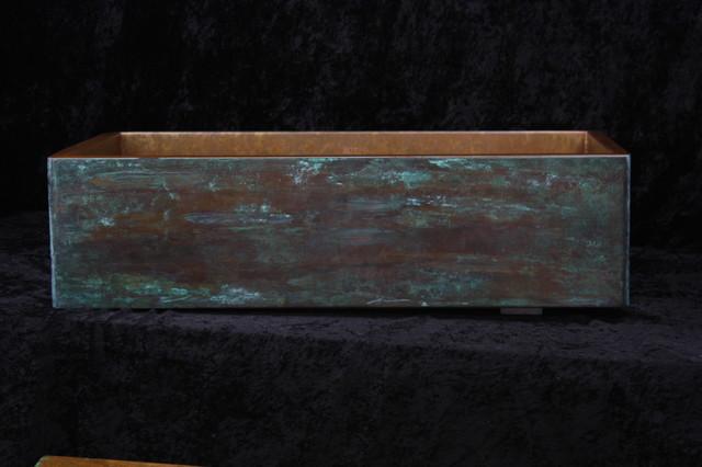 copper farm sink rustic by rachiele