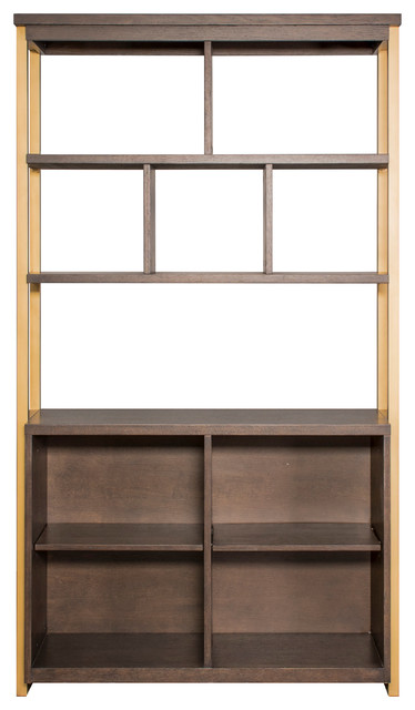 Display Bookcase, Dark Mocha Finish.