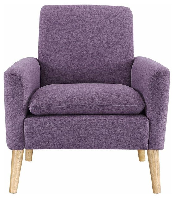 Incredible Linen Fabric Single Sofa Upholstered Comfy Arm Chair Purple Gamerscity Chair Design For Home Gamerscityorg