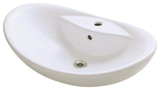 Porcelain Vessel Sink - Traditional - Bathroom Sinks - by MR Direct ...