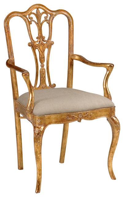 Jonathan Charles Gilded 18th Century Style Dining Chair 493037 Dining Chairs Houzz