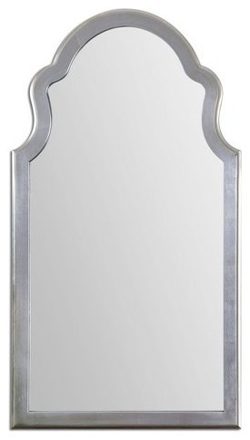 Shaped Arch Wall Mirror, Silver