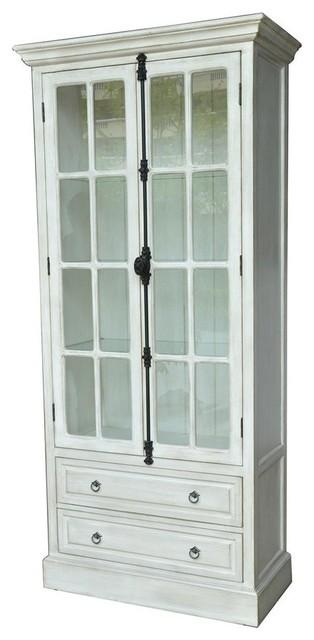 White-Washed-Oak China Cabinets & Hutches | Houzz