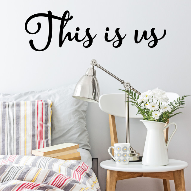 This Is Us Wall Quotes Decal, Black Contemporary Wall Decals