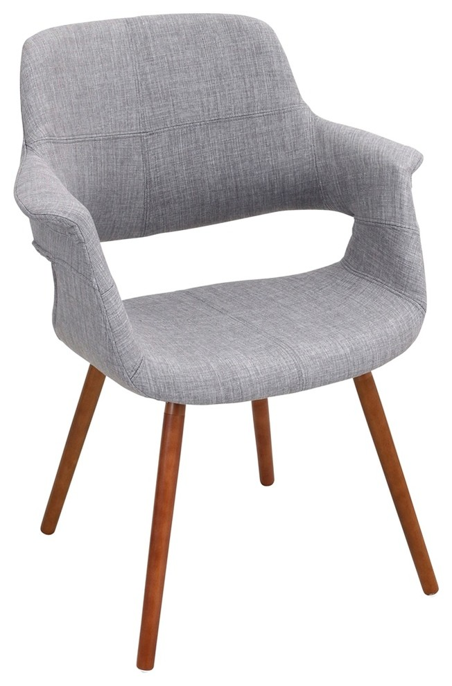 Vintage Flair Chair Walnut And Blue