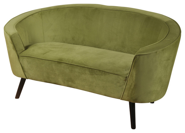 Pleasing Silk Road 1930S Shelter Arm French Parlor Settee Lime Green Velvet Caraccident5 Cool Chair Designs And Ideas Caraccident5Info