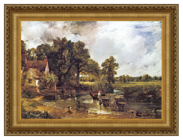 """the Hay Wain 1821"" Stretched Canvas Replica, 29""x22.5""."