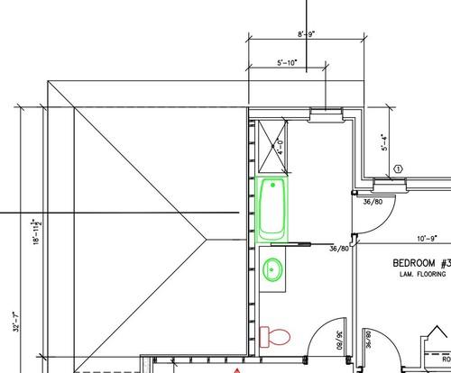 Narrow Accessible Jack Jill Bathroom Help
