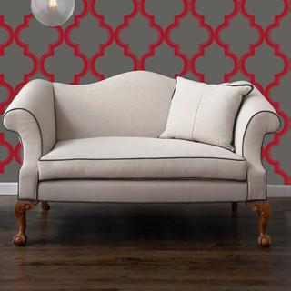 Tempaper Marrakesh Ruby Slate Wallpaper contemporary