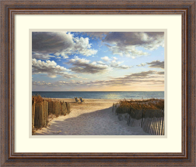 sunset beach framed print by daniel pollera beach style prints and posters