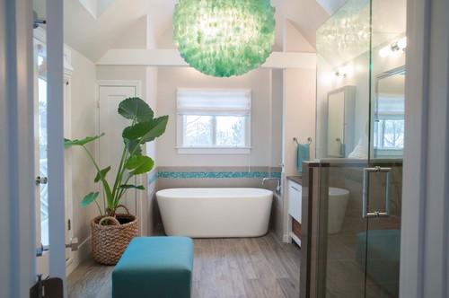 Beach Style Bathroom by Westport Interior Designers & Decorators Olga Adler