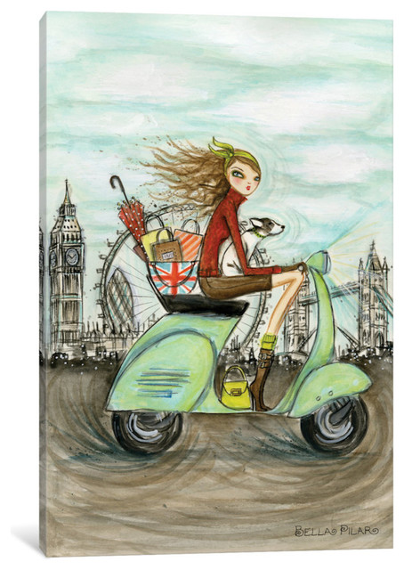 Icanvas World Shopper: London Gallery Wrapped Canvas Art Print By Bella Pilar.
