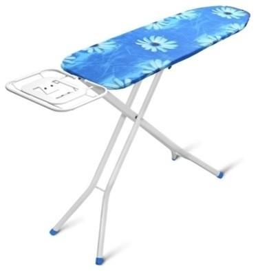 Ironing Board Blue Premium Heavy Duty Steel Mesh Top 4-Leg Design Cotton Cover