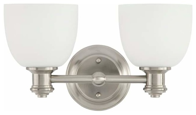 Park Harbor Park Harbor Phvl2132 Peebles 2 Light Bathroom Fixture Bathroom Vanity Lighting Houzz