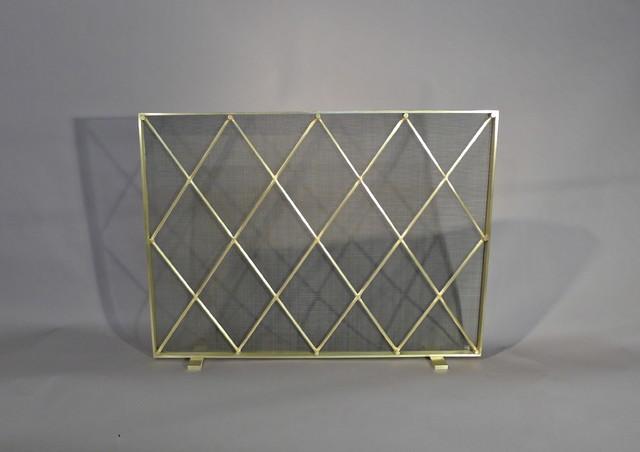 midcentury modern fireplace screen contemporary