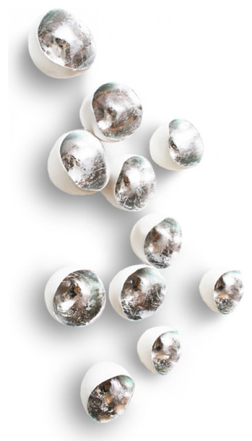 Silver \'Seed\' Wall Accents, Set of 20 - Eclectic - Wall Decor - by ...