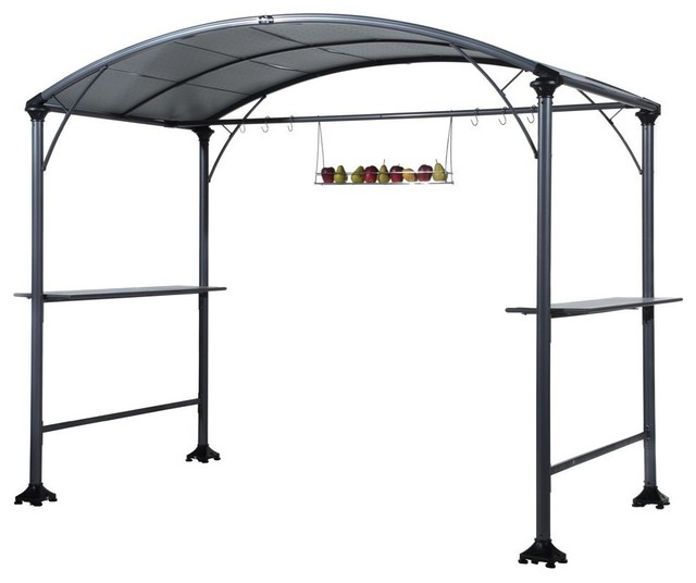 abba patio outdoor backyard bbq grill gazebo with canopy gray traditional