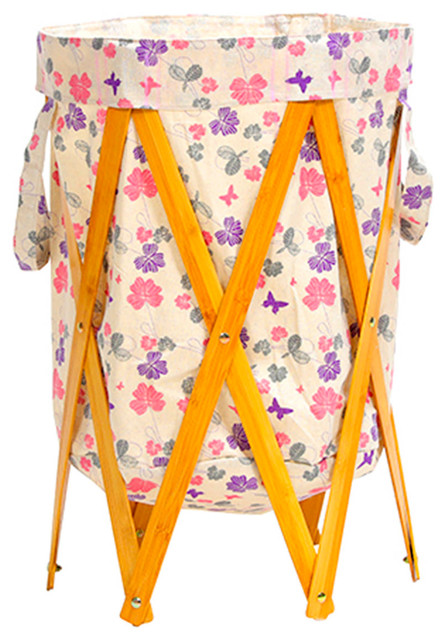 Flower Folding Laundry Hamper Blh32.