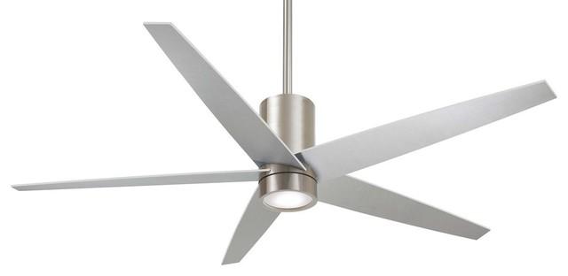 "Minka Aire Symbio Ceiling Fan, Brushed Nickel, 60""."
