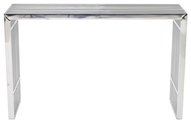 Gridiron Console Table Eei-779, Silver.