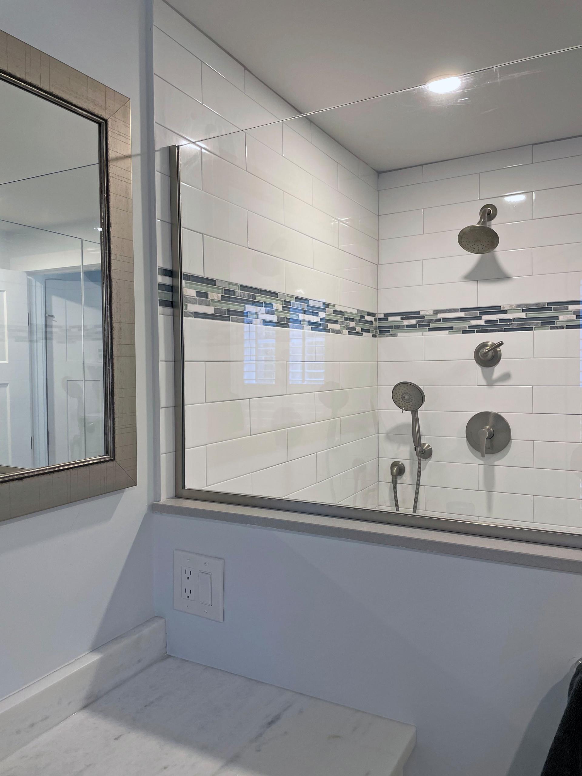 In law shower in main bathroom
