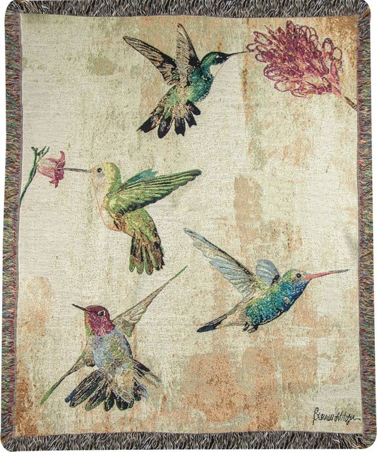 "Hummingbird Floral BFZ-50""x60"" Tap Throw"