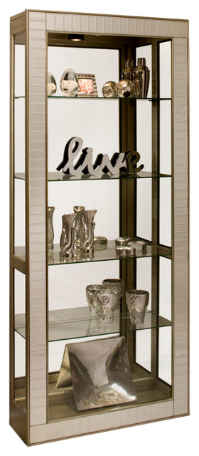 Philip Reinisch Co. Halo Argus II Display Curio Cabinet Contemporary China  Cabinets