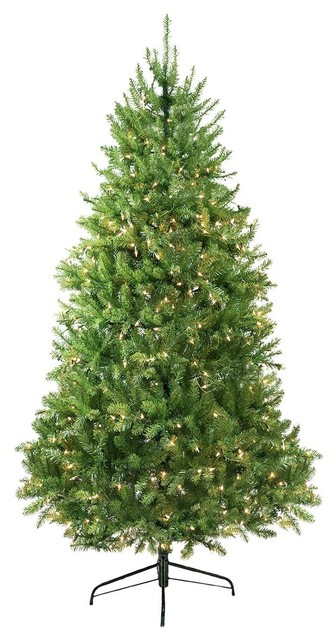 9' Pre-Lit Northern Pine Full Artificial Christmas Tree, Clear Lights