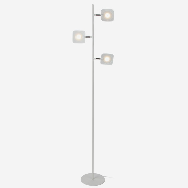Tree LED Dimmable Floor Lamp, Satin Nickel by Brightech