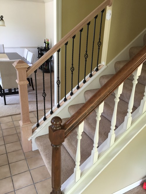 Stain Color For Oak Railing