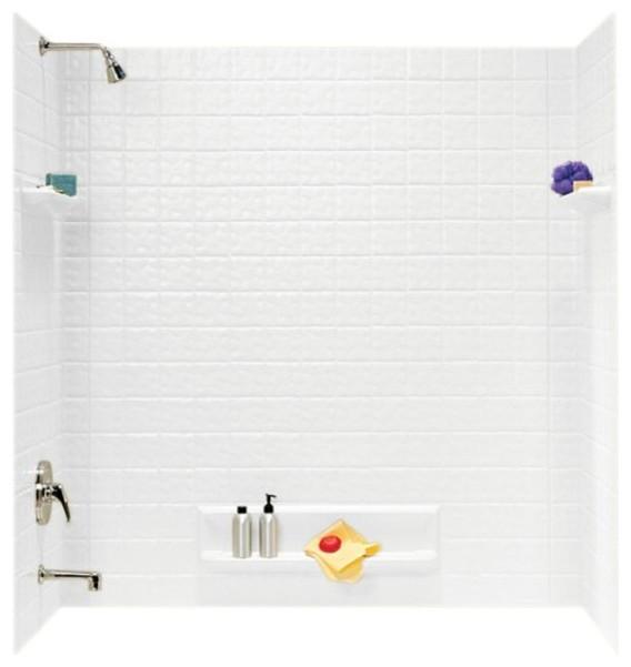 Swan 32x60x59.625 Veritek Bathtub Wall Kit - Contemporary - Shower ...