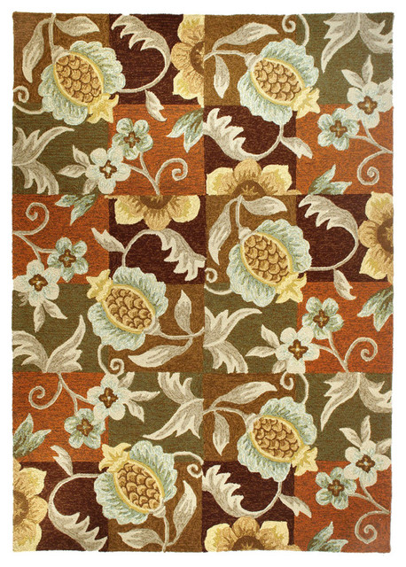 Homefires Rugs Tropical Pinele And