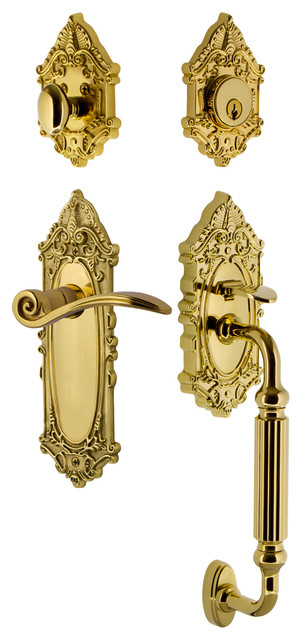 Nostalgic Warehouse Victorian Plate F Grip Entry Set Swan Lever Victorian Door Entry Sets By Nostalgic Warehouse Houzz