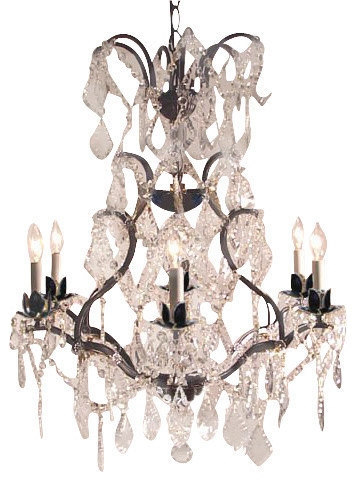 Wrought Iron Empress Crystal Chandelier