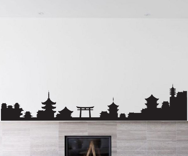 Japanese Symbol Vinyl Wall Decal JapaneseSymbolUScolor - Japanese wall decals